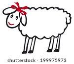 sheep | Shutterstock .eps vector #199975973