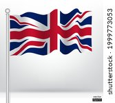 waving united kingdom flag on a ... | Shutterstock .eps vector #1999773053