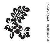 hibiscus and flora vector... | Shutterstock .eps vector #1999773440