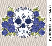 vector illustration of a skull | Shutterstock .eps vector #199982114