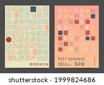 mosaic geometric tile design...   Shutterstock .eps vector #1999824686