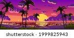 sunset ocean tropical resort... | Shutterstock .eps vector #1999825943