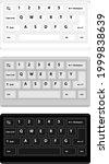 mini keyboard vector color...