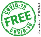 covid 19 free stamp isolated on ...   Shutterstock . vector #1999850969