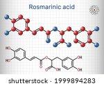 rosmarinic acid  molecule. it... | Shutterstock .eps vector #1999894283