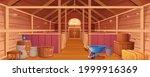 horse stable interior or barn... | Shutterstock .eps vector #1999916369