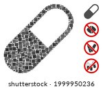 collage medication granule icon ... | Shutterstock .eps vector #1999950236