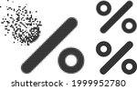 broken dot percent icon with... | Shutterstock .eps vector #1999952780