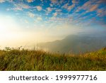 beautiful mountains and sky,Mountain valley during sunrise. Beutiful natural landsscape in the summer time.