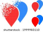 disappearing pixelated map...   Shutterstock .eps vector #1999983110