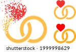 dispersed dotted marriage rings ...   Shutterstock .eps vector #1999998629