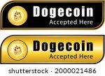 we accept dogecoin label ...   Shutterstock .eps vector #2000021486