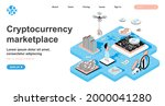 cryptocurrency marketplace... | Shutterstock .eps vector #2000041280
