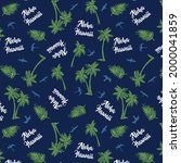hawaiian pattern with palm and...   Shutterstock .eps vector #2000041859
