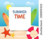 summer beach with clear sky... | Shutterstock .eps vector #200005310