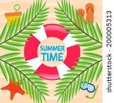 summer time beach vector... | Shutterstock .eps vector #200005313