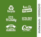 eco friendly typography... | Shutterstock .eps vector #200006243
