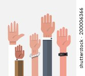 vote hand. up hand   vector... | Shutterstock .eps vector #200006366
