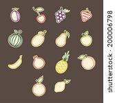 contours colored sticker set... | Shutterstock .eps vector #200006798