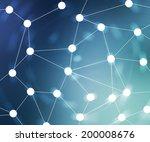 blue web network background... | Shutterstock . vector #200008676