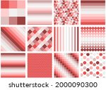 set of red geometric patterns ...   Shutterstock .eps vector #2000090300