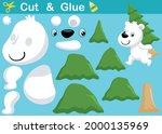 cute polar bear carrying pine... | Shutterstock .eps vector #2000135969