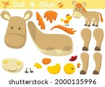 donkey with chicken. education... | Shutterstock .eps vector #2000135996