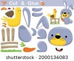 rabbit holding carrot with... | Shutterstock .eps vector #2000136083