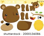 funny bear with bee hive.... | Shutterstock .eps vector #2000136086