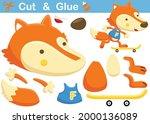 fox playing skateboard.... | Shutterstock .eps vector #2000136089