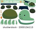 funny turtle wearing graduation ... | Shutterstock .eps vector #2000136113