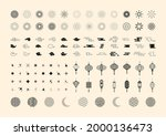 set of black icons with full... | Shutterstock .eps vector #2000136473