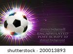 shining soccer ball on abstract ... | Shutterstock .eps vector #200013893