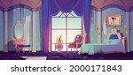 abandoned princess bedroom... | Shutterstock .eps vector #2000171843
