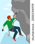 a man is engaged in extreme...   Shutterstock .eps vector #2000196959
