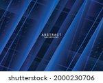 modern dark luxury blue paper...   Shutterstock .eps vector #2000230706
