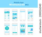 Mobile App Wireframe Ui Kit ?2. Followers screen, search people screen, region search screen, calendar screen, friendlist screen, create group screen, friendship request screen, membership plan screen