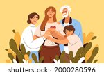 concept of family support and... | Shutterstock .eps vector #2000280596