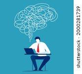idea. creativity and thinking... | Shutterstock .eps vector #2000281739