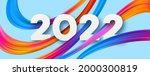 new year 2022 number on...   Shutterstock .eps vector #2000300819