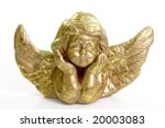 Close Up Of A Golden Cherub On...