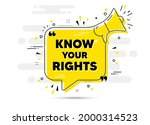 know your rights message....   Shutterstock .eps vector #2000314523