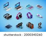 realistic gadgets  digital... | Shutterstock .eps vector #2000340260