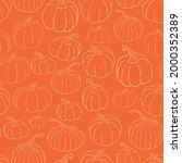 Cute Fall Vector Seamless...