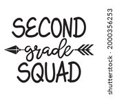 second grade squad background...   Shutterstock .eps vector #2000356253