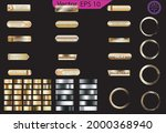 set of glass gold buttons and... | Shutterstock .eps vector #2000368940