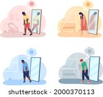 teenager with overweight...   Shutterstock .eps vector #2000370113