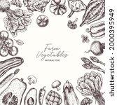 farm vegetables on white...   Shutterstock .eps vector #2000395949