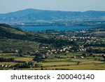 view of famous val di chiana in ... | Shutterstock . vector #200040140