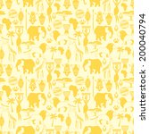 african ethnic seamless pattern ... | Shutterstock .eps vector #200040794